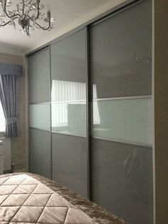 One Of Our Multi Panel Grey Glass Sliding Door Wardrobes images ideas from Best Door Photos Collection Wardrobe Interior Design, Wardrobe Design Bedroom, Bedroom Cupboard Designs, Door Design Interior, Bedroom Furniture Design, Modern Bedroom Design, Sliding Door Wardrobe Designs, Sliding Door Design, Closet Designs