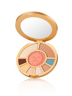 Make a splash this summer with tarte and the Aqualillies! This limited-edition waterproof palette, inspired by America's most glamorous synchronized swimming group, includes 6 new eye shadows, bronzer, highlighter, and  a limited-edition Amazonian clay 12-hour blush. All show-stopping shades are tucked inside a classically elegant, mirrored compact. See below for shade descriptions.