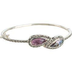 Judith Jack Cabernet Bangle Bracelet.  Love the color!