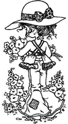 para colorir da Sarah Kay