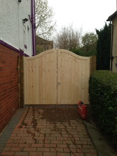 Bespoke gates provided by Atkinson fencing Garden Fence Panels, Garden Fencing, Drive Gates, Garden Buildings, Bespoke, Shed, Deck, Outdoor Structures, Home