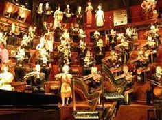 House on the Rock, Spring Green, WI This room was neat! The manikins played the instruments. They even tapped their feet to the music! Wisconsin Dells, Milwaukee Wisconsin, Circus Room, Catholic Doctrine, Scary Places, Strange Places, House On The Rock, Roadside Attractions, The Visitors