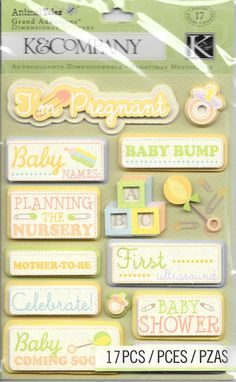 Nursery Rhymes Characters Embossed SCRAPBOOKING Stickers by K /&Company Baby