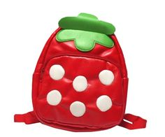 ~Sweet Lolita red coord~  Gaorui Children Toddler Kid's Leather School Bag Strawberry