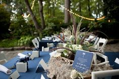 Garden Rehearsal Dinner Venue | Charleston Style | Blue and White - Photo: Chris and Adrienne Scott #rehearsaldinner #cjsoffthesquare