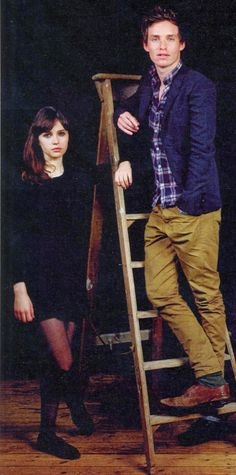 Eddie Redmayne and Felicity Jones. How does he know so many fabulous people?!?!?!?