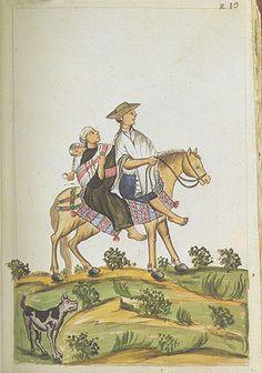 Manuscritos de América en las Colecciones Reales - Trujillo del Perú - Siglo XVIII - Indi de valles a caballo