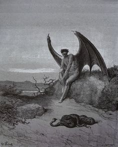 Lucifer, The Fallen Angel - Gustave Dore Artwork Print by Famouspaintings - SMALL Gustave Dore, Norman Rockwell, Satan, Arte Indie, Dantes Inferno, Dante Alighieri, Arte Horror, Angels And Demons, French Artists