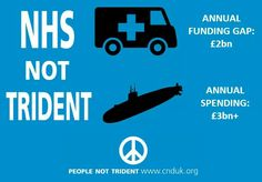 NHS not trident......