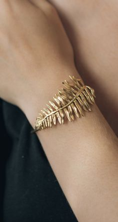 Sword Fern Bracelet- Botanical Cuff in Brass, Bronze, or Sterling Silver