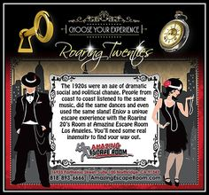 Take a step back in time! Escape the Roaring 20's at Amazing Escape Room Los Angeles