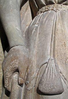 Limestone France, Burgundy ca 1250 Abbey of Moutiers-St-Jean near Dijion