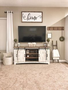 35 Best Minimalist Farmhouse TV Stand Ideas For Your Living Room Design. 35 Best Minimalist Farmhouse TV Stand Ideas For Your Living Room Design. living room decor ideas More info could be found at the image url. Living Room Tv, Home And Living, Tv Stand Ideas For Living Room, Decor For Living Room, Kitchen Living, Living Room Country, Rustic Living Room Decor, Living Room Wall Ideas, Rustic Apartment Decor