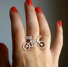 Ready to Ship Tiny Bike Ring Sterling door RachelPfefferDesigns