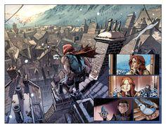 """다음 @Behance 프로젝트 확인: """"comic pages"""" https://www.behance.net/gallery/34502545/comic-pages"""