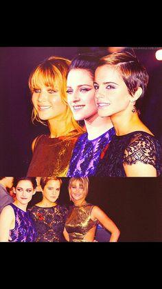 Jennifer Lawrence,  Emma Watson, and Kristen Stewart