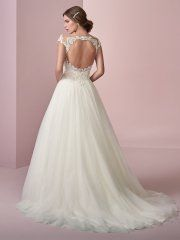 A classic yet whimsical princess ball gown for the romantic bride. Open Back Wedding Dress, Classic Wedding Dress, Backless Wedding, Perfect Wedding Dress, Sottero And Midgley Wedding Dresses, Princess Ball Gowns, Designer Wedding Gowns, Bridal Dresses, Whimsical