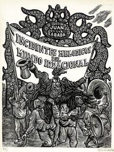 """El Museo del Estanquillo dedica su nueva muestra al grabador mexicano Leopoldo Méndez. Portada de """"Incidentes Melódicos del Mundo Irracional"""" (1944).  Cortesía Museo del Estanquillo"""