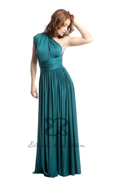 Eliza and Ethan - Multiway - Infinity -  Bridesmaids Dresses - OneSize - Maxi MultiWrap Dress Color: Jade
