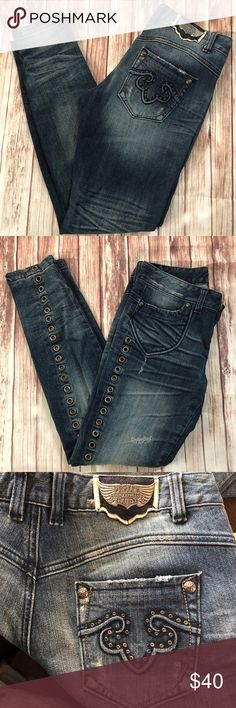 Rerock for Express Jeans size 8 / Eur 29 Skinny Great condition  No. Smoking home Express Jeans Skinny