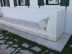 stone and concrete bench