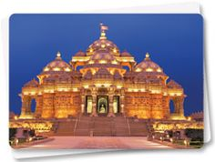 Swaminarayan Akshardham in New Delhi epitomizes 10,000 years of Indian culture in all its breathtaking grandeur, beauty, wisdom an d bliss. It brilliantly showcases the essence of India's ancient architecture, traditions and timeless spiritual messages. The Akshardham experience is an enlightening journey through India's glorious art, values and contributions for the progress, happiness and harmony of mankind.