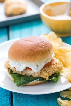Crispy Baked Fish Sandwiches. Looking to add more family friendly fish recipes to your weeknight meal rotation? With this dinner idea, everyone will be coming back for seconds!