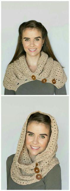Button Scarf - Giveaway + Crochet Pattern Nightingale Button Scarf (Paid Crochet Pattern on Etsy)Nightingale Button Scarf (Paid Crochet Pattern on Etsy) Diy Tricot Crochet, Love Crochet, Crochet Scarves, Crochet Shawl, Crochet Clothes, Crochet Stitches, Crochet Hooks, Poncho Knitting Patterns, Loom Knitting