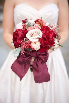 Deep purple, red and white bouquet Beautiful wedding bouquet  #wedding #bouquet
