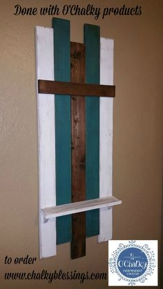 "Love this cross - it's 48"" tall - done with O'Chalky products !"