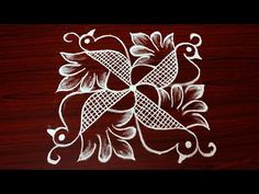 creative birds rangoli designs with 7x7 dots - beautiful kolam designs - simple muggulu designs - YouTube
