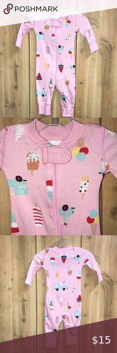 Hanna Andersson 130 150 Girls Pajamas Short John Organic Cotton NEW Ice Cream 8