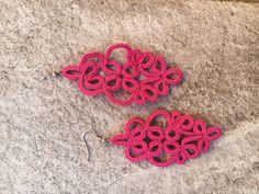 Tatting Earrings, Crochet Earrings, Etsy, Vintage, Jewelry, Craft, Lace Earrings, Jewlery, Jewerly