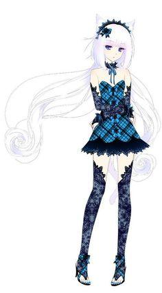 Anime with white hair