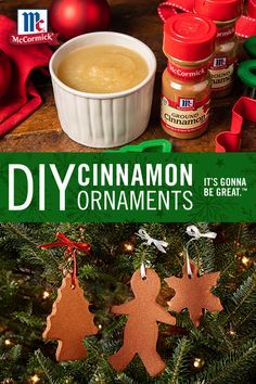 Add the warm, sweet smell of cinnamon to your Christmas tree with DIY Cinnamon Ornaments! The holiday activity is fun for the whole family, and kids will have a blast making ornaments to hang on the tree. It's Gonna Be Great Christmas Ornament Crafts, Christmas Crafts For Kids, Christmas Goodies, Holiday Crafts, Holiday Fun, Holiday Activities, Christmas Activities For Toddlers, Christmas Tree Art, Christmas Tree Inspiration