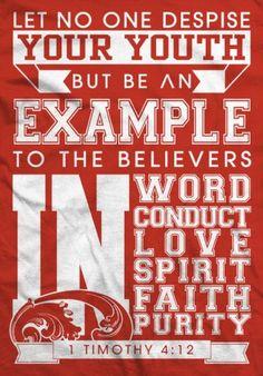 1st Timothy 4:12 #bible #scripture