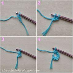 Cupcake By Me Blog ©: Hækletips - 3 måder at starte arbejdet op ved hækling af cirkler (rundt)