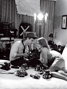 Natalia Vodianova & Matthew Gray Gubler photographed by Bruce Weber Chateau California, US Vogue May 2011