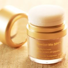 Jane Iredale Powder-Me SPF Dry Sunscreen. The best full body sunscreen. Waterproof, SPF 30, easy to apply.
