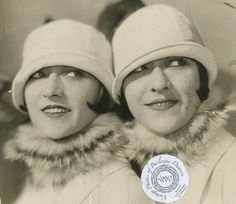 The Dolly Sisters (twins Roszika (Rosie) and Janszieka (Jenny) Deutsch). They were born 25 October 1892 in Budapest and moved to the US in 1905. They toured the Orpheum vaudeville circuit, appeared in Ziegfeld Follies for 2 season, and went on to act in several silent films. Jenny was in a disfiguring car crash and despite over a dozen surgeries to physically repair her, she never recovered mentally, and hanged herself in 1941. Rosie attempted suicide in 1962, but died of heart failure in…