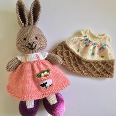 Two new little dresses heading out in today's mail  ....Sheep Pocket Dress and Waffle Cone Dress ...details on my Ravelry page