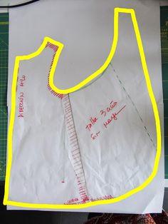 Tutorial: Como hacer tu propio patrón para el  delantal pinafore. Para niños y adultos