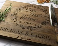 Coffee house noodle board stove cover stovetop cover   Etsy Custom Cutting Boards, Engraved Cutting Board, Personalized Cutting Board, Bamboo Cutting Board, First Home Gifts, New Home Gifts, Stove Board, Noodle Board, Sweet Home