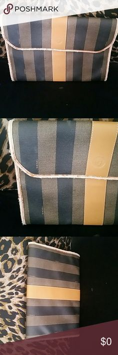 Vintage Fendi Pre loved no rips or stains the edges have some wear but still is a classy bag Bags Clutches & Wristlets