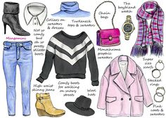 How to Update Your Wardrobe for Winter All's good minus the pink stuff. Never. Ever.  Who are you, Barbie?