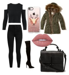 """""""Winter Time"""" by denisaionita12 on Polyvore featuring Hollister Co., Levi's, Casetify and Lime Crime"""