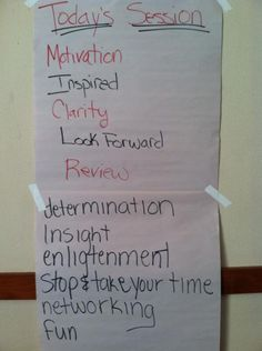 All these words used to describe the Sage Vision Workshop in Toronto on September 17, 2013.
