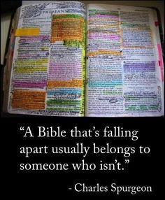 A bible that's falling apart...