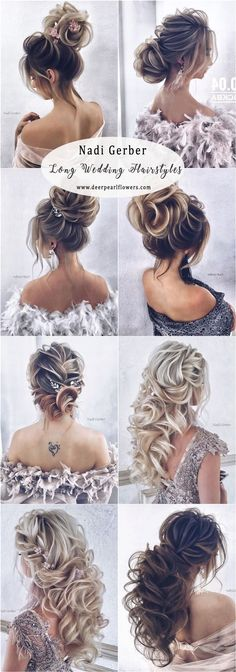 Long Wedding Hairstyles and Updos for Bride #weddings #hairstyles #weddinghairstyles #fashion #weddingideas