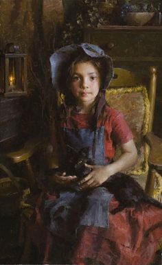 Morgan Westling Confidante Limited Edition Canvas Morgan Weistling's contemporary impressionism describes a timeless America of the not-too-distant past, as well as the beauty of everyday childhood moments. Figure Painting, Painting & Drawing, Morgan Weistling, Wow Art, Western Art, Beautiful Paintings, Oeuvre D'art, Figurative Art, Art For Kids